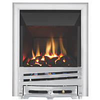 Focal Point Horizon Chrome Rotary Control Inset Gas High Efficiency Fire
