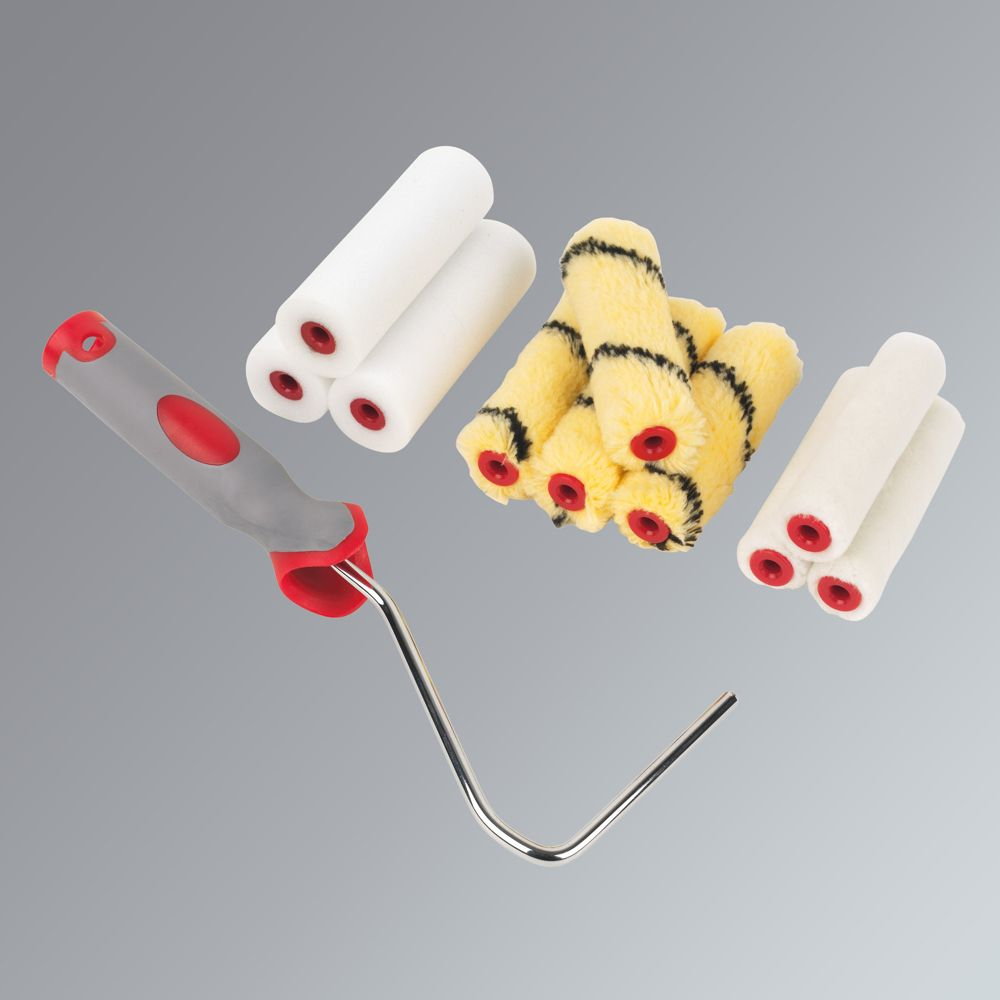 "High Density 4"" Assorted Mini Rollers with Frame 10 Piece Set"