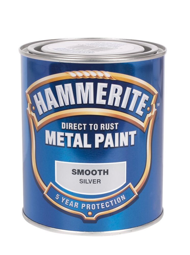 Hammerite Smooth Paint Silver 750ml