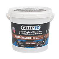 GripIt Brown Plasterboard Fixings 20 x 20mm 100 Pack