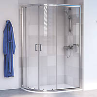 Aqualux Shine 6 Offset Quadrant Shower Enclosure LH/RH Polished Silver 1000 x 800 x 1900mm