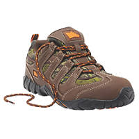 Hyena Dune Safety Trainers Brown  Size 8