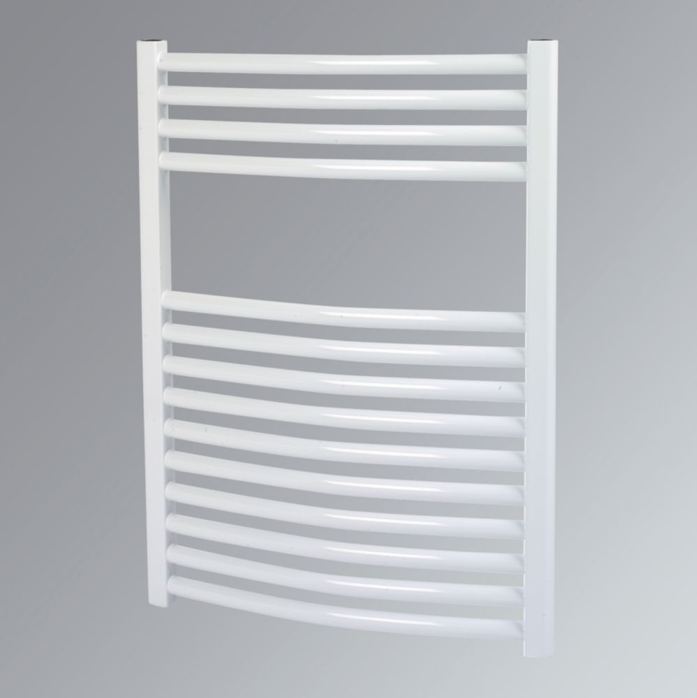 Kudox Curved Towel Radiator White 500 x 700mm 330W 1126Btu