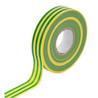 WorkPro Insulation Tape Green / Yellow 19mm x 33m