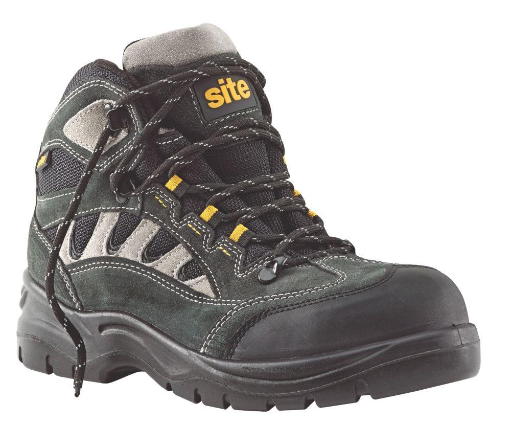Site Granite Safety Trainer Boots Dark Grey Size 12