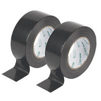 Duck Original Cloth Tapes 50 Mesh Black 50mm x 50m 2 Pack