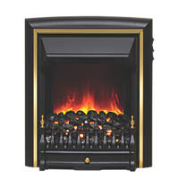 Be Modern Comet Black / Brass Switch Control Inset Electric Fire