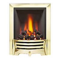 Be Modern Mayfair Brass Rotary Control Inset Gas Fire