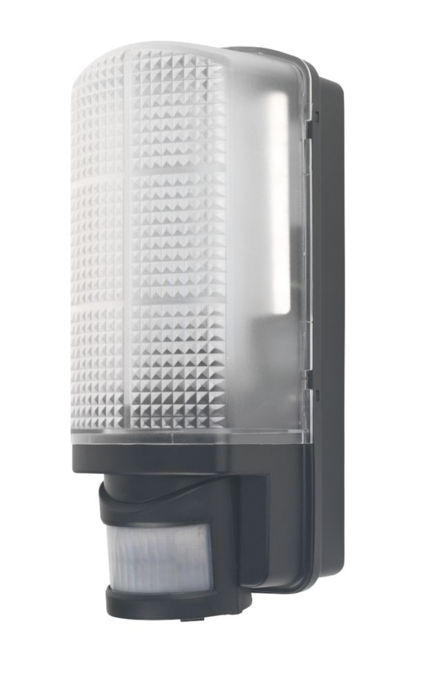 LAP Bulkhead LED Wall Lamp with PIR 6W Black
