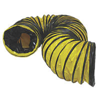 Stanley PVC Flexible Ducting Black / Yellow 5m x 200mm