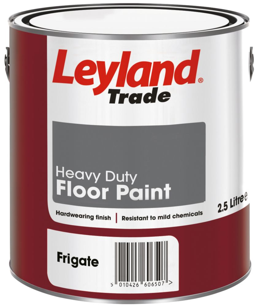 Leyland Heavy Duty Floor Paint Frigate Grey 2.5Ltr