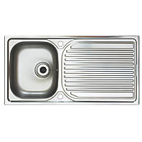 Astracast Aegean Reversible Inset Sink Stainless Steel 1 Bowl 965 x 500mm