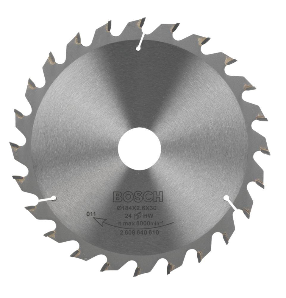 Bosch Circular Saw Blade 184mm 30mm Bore 24T