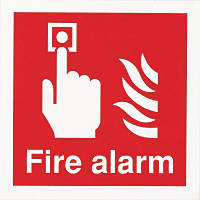 "Nite-Glo ""Fire Alarm"" Sign 100 x 100mm"