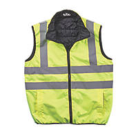 "Site  Reversible Hi-Vis Body Warmer Yellow Medium 46"" Chest"