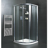 Moretti Quadrant Shower Enclosure w/ Tray & Waste  900 x 900 x