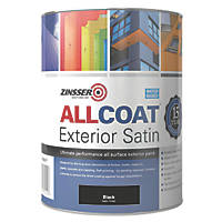 Zinsser All Coat Exterior Paint Black 1Ltr