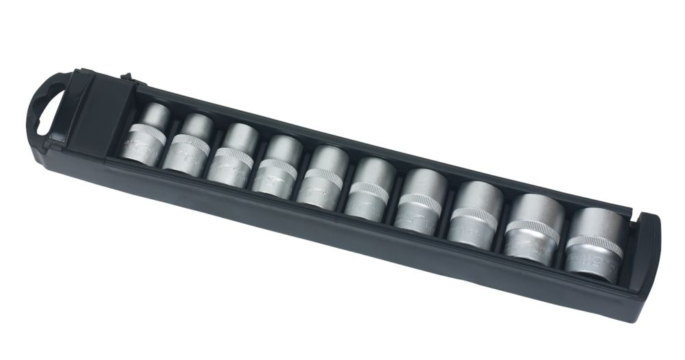 "Forge Steel Metric Socket Set ½"" 10 Pieces"