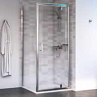 Aqualux Shine 6 Square Shower Enclosure LH/RH Polished Silver 800 x 800 x 1900mm