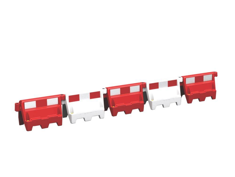 Roadbloc Barrier White Pack of 9