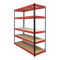 RB Boss Powder-Coated Boltless Freestanding Shelving 5-Tier