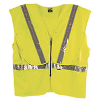 "Fhoss Illuminated Hi-Vis Vest Yellow Small / Medium 38-42"" Chest"