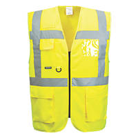 "Portwest Hi-Vis Thermal Waistcoat Yellow Large 44"" Chest"