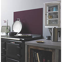 Aubergine Self-Adhesive Toughened Glass Splashback 900 x 750 x 6mm