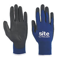 Site Ultralight Premium PU Gloves Blue Large
