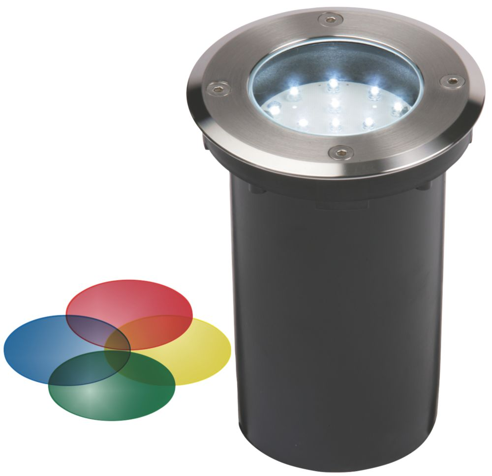 Geko 15-Light LED Ground Level Recessed Colour Fi-Lighter