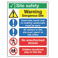 """Site Safety"" Signs 400 x 300mm 25 Pack"