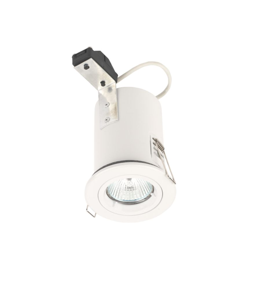 Lytlec Fixed Round White 12V Low Voltage Fire Rated Downlight