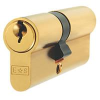 Eurospec Keyed Alike Double Euro Cylinder Lock 40-40 (80mm) Polished Brass