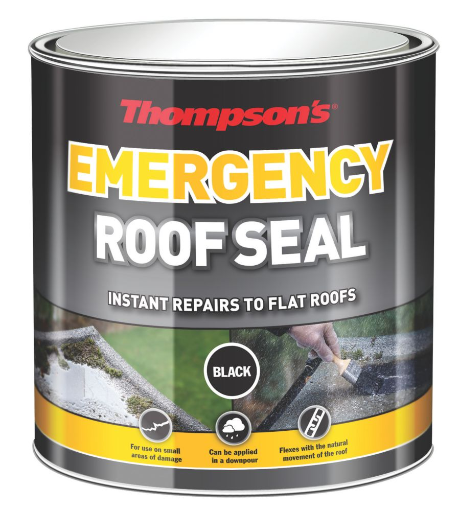 Ronseal Thompson's Emergency Roof Seal Black 1Ltr