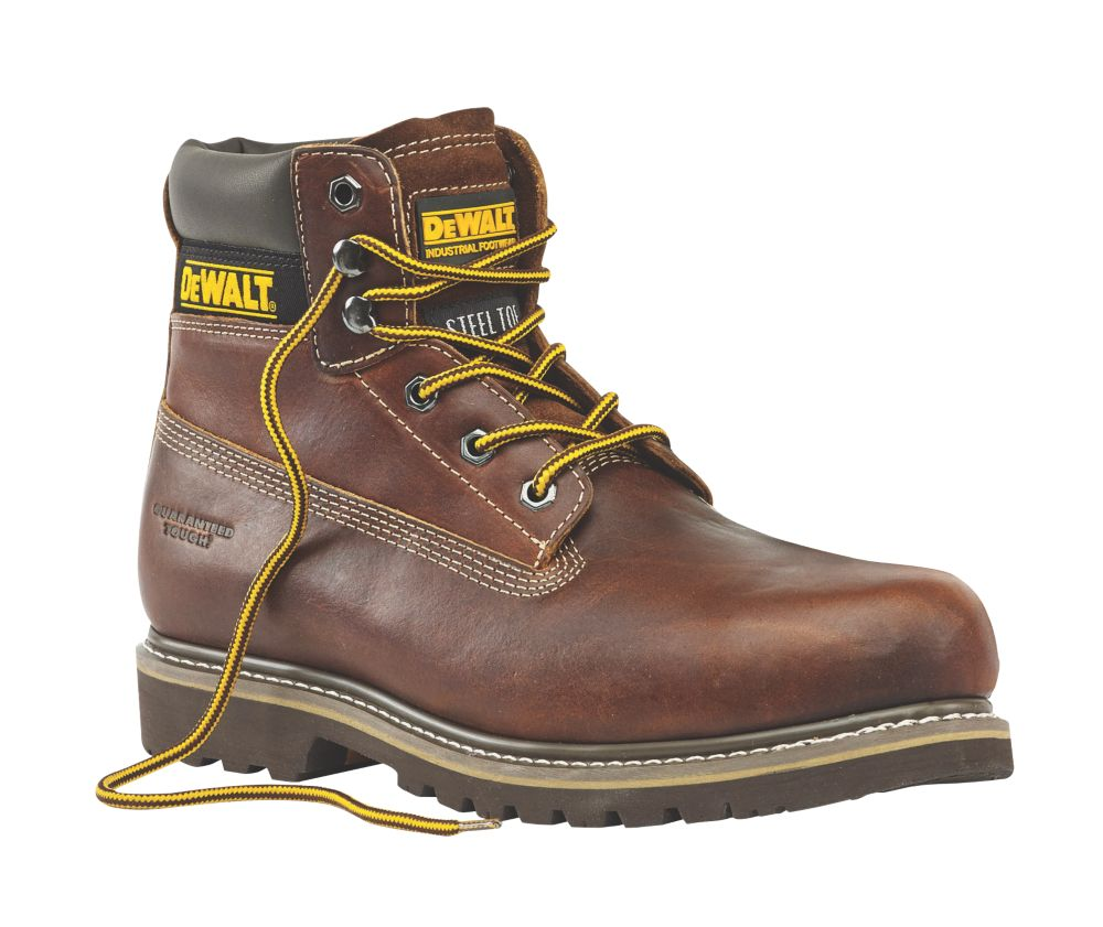 DeWalt Platinum Welted Safety Boots Tan Size 9