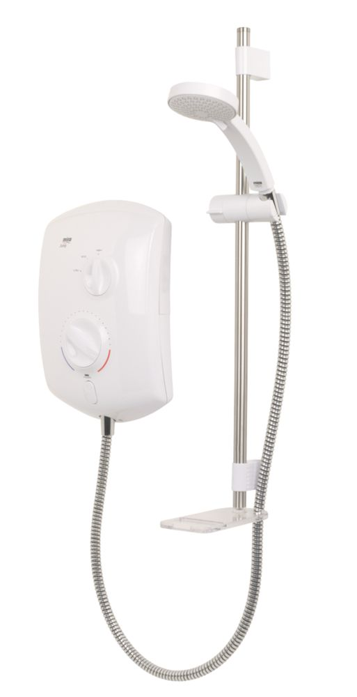 Mira Jump Manual Electric Shower White/Chrome 8.5kW