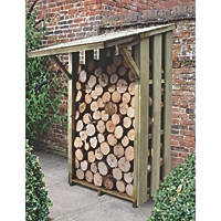 Forest Flip Roof Log Store - Small