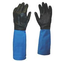 Showa Chem Master Gauntlets Blue/Black X Large