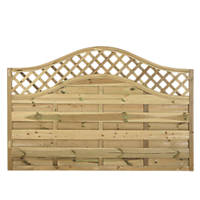 Forest Prague Wave-Top Lattice Fence Panels 1.8 x 1.2m 5 Pack