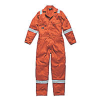 "Dickies WD2279 Zip Front Coverall Orange Small 36-38"" Chest  L"