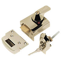 Yale BS Night Latch Polished Brass 60mm