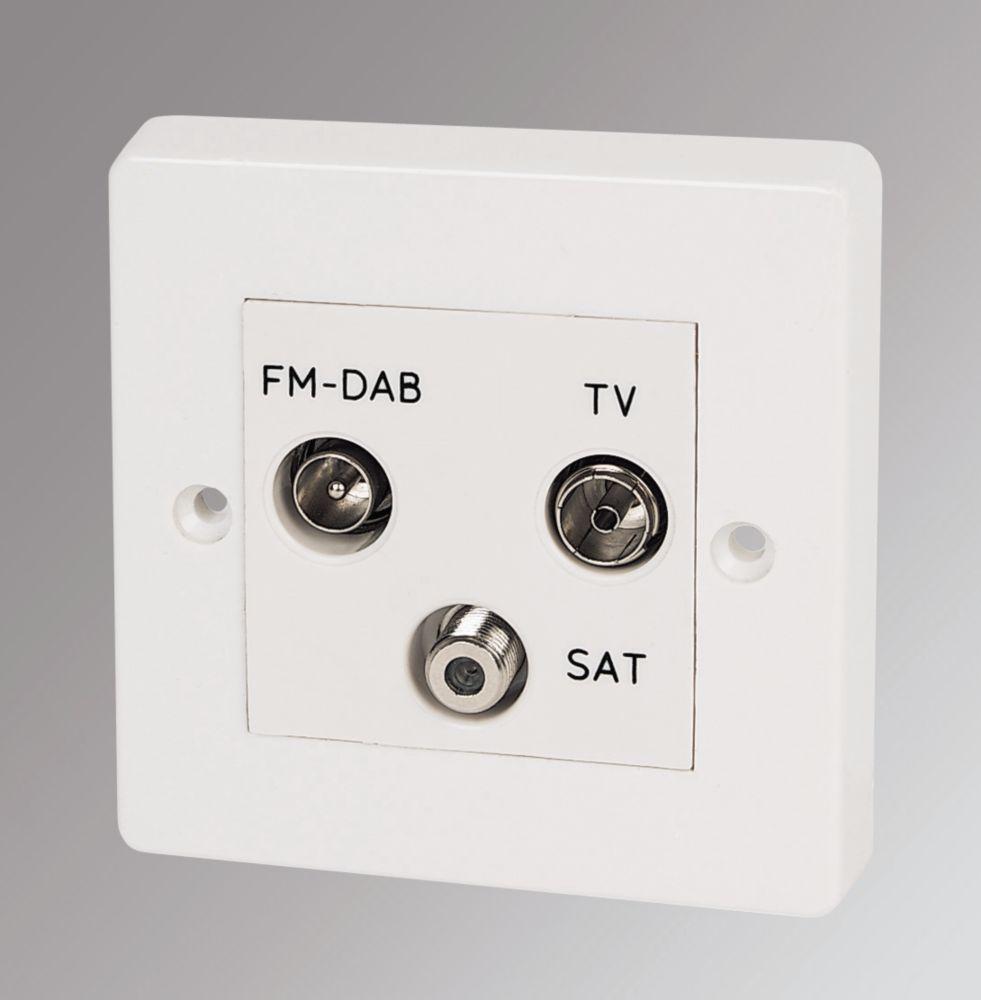 Crabtree TV, FM & Satellite Triplex Unit