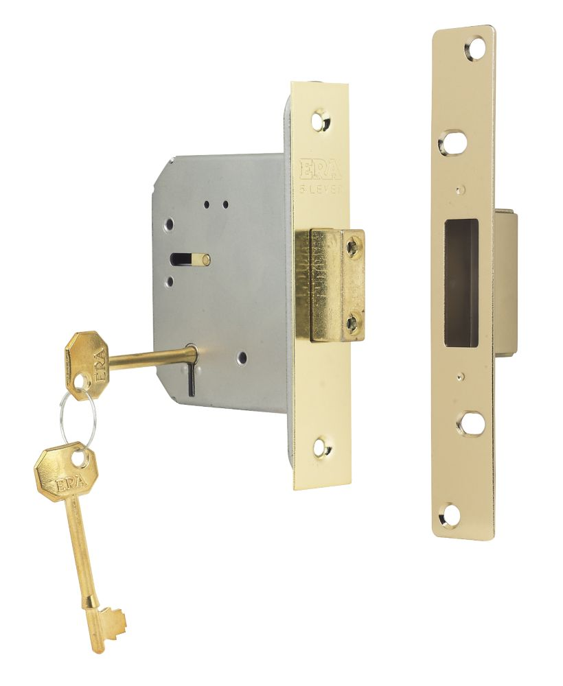 "ERA 5-Lever Mortice Deadlock Steel Brass 3"" (76mm)"