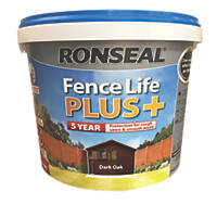 Ronseal Fence Life Plus Shed & Fence Treatment Dark Oak 9Ltr