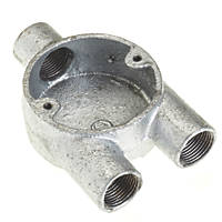 Deta Galvanised Metal Conduit 3-Way Y Box 20mm