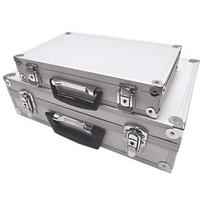 13 17 aluminium case set 2 pieces metal toolboxes. Black Bedroom Furniture Sets. Home Design Ideas
