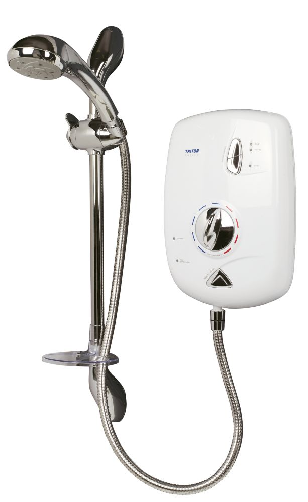 Triton Entice Electric Shower White/Chrome 10.5kW