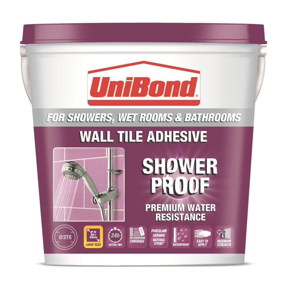 UniBond Waterproof Wall Tile Adhesive 5Ltr