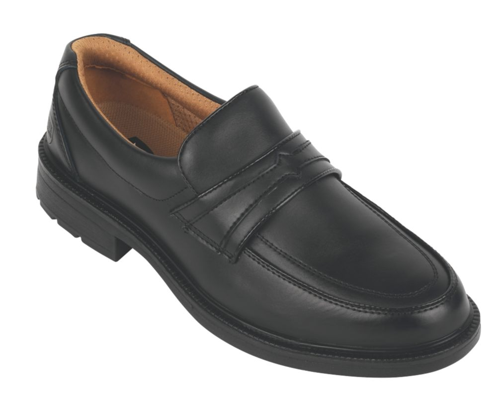 City Knights Slip-On Executive Safety Shoes Black Size 8