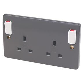 MK Double Pole Switch Socket 13A 2G